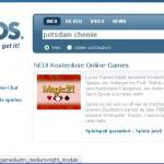 Suchmaske von Lycos.de